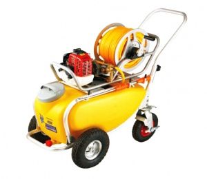 POWER SPRAYER: 50 LTR TANK WHEELS PETROL HONDA