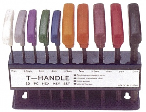 HEX KEY: T HEAD 10PC IMPERIAL