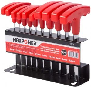 HEX KEY: T HEAD 10PC SET MAXPOWER METRIC