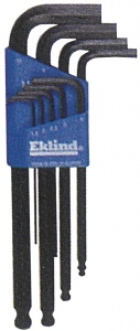 BALL HEX KEY: EKLIND 9PC MET 1.5-10MM