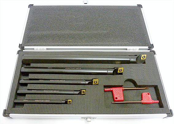 BORING BAR SET: WS19-2 Tin with TIPS 5PC SET