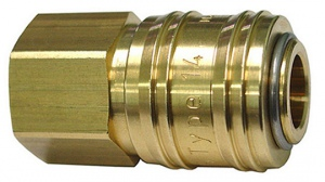 BRASS COUPLER: RECTUS 1/4