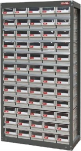 STEEL PARTS CABINET: 60 DRAW H/DUTY