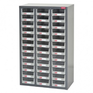 STEEL PARTS CABINET: 36 DRAW