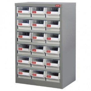 STEEL PARTS CABINET: 18 DRAW H/DUTY HD-318