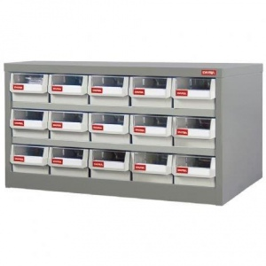 STEEL PARTS CABINET: 15 DRAW H/DUTY HD-515