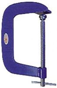 G CLAMP: NUWELD 100MM D/THROAT STEEL H/DUTY