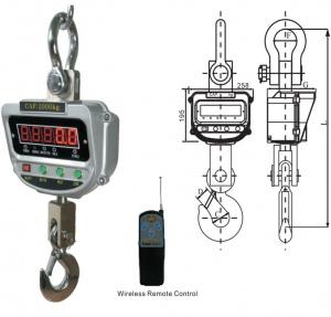 ELECTRONIC CRANE SCALE: XZ-AAE/AAC 10,000KG TOYAMA