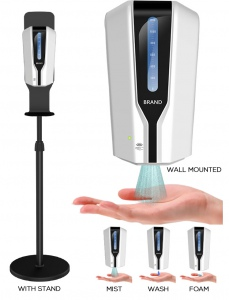 TOUCHLESS SOAP DISPENSER: MOBILE STATION WITH STAND