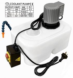COOLANT PUMP: TANK & HOSE 10LTR 1PH PLASTIC TANK GEOR