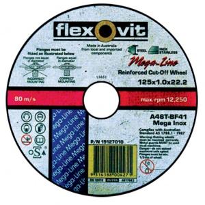 C/O WHEEL: 180 X 2.5 X 22MM FLEXOVIT STAINLESS