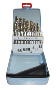 DRILL SET: SMT 1.0 - 10.0MM HSS 19PC