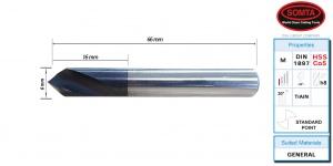 SPOTTING DRILL: 4MM 90DEG HSS-Co5 (SOMTA)