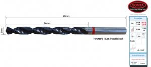 DRILL BIT: 1.0MM HSS TiAIN COATED  RED BAND JOBBER (SOMTA)