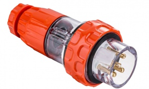 STRAIGHT PLUG IP66: 500V 32A 5 ROUND PINS MALE