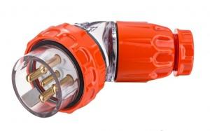 ANGLE PLUG IP66: 500V 32A 5 ROUND PINS MALE