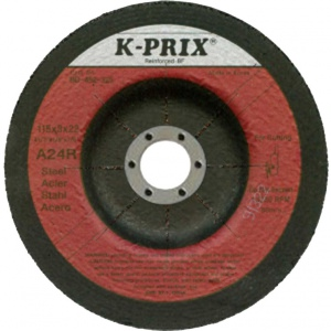 GRINDING DISC: 230X6X22MM FLEXOVIT-A24 STAINLESS