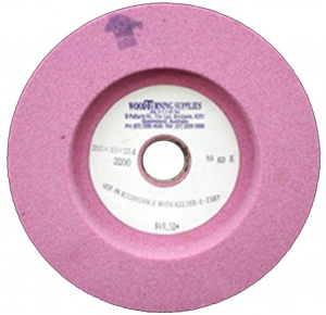 GRINDING WHEEL: 150 X 40 X 15.88 RA80 K PINK