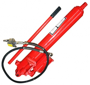 LONG RAM JACK: 8 TON AIR/HYDRAULIC CLEVIC MOUNT