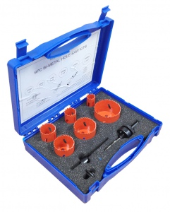 HOLESAW SET: 9PC ELECTRICIANS