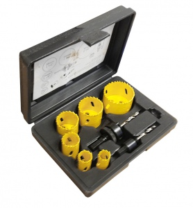 HOLESAW SET: 8PC PLUMBERS SET