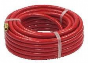 AIR HOSE: 8MM X 5M RED COMPLETE W/FITTINGS
