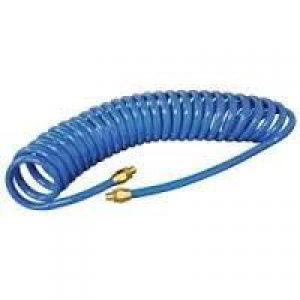 RECOIL HOSE: 8MM X 8M BLUE WITH ARO CONNECTORS