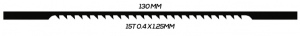 SCROLL SAW BLADE: 130MM 15T 0.4 X 1.25MM UNPINNED 20 PACK