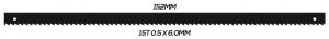 SCROLL SAW BLADE: 152MM 15T 0.5 X 6.0MM PINNED 10 PACK
