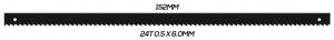 SCROLL SAW BLADE: 152MM 24T 0.5 X 6.0MM PINNED 10 PACK
