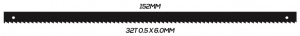 SCROLL SAW BLADE: 152MM 32T 0.5 X 6.0MM PINNED 10 PACK