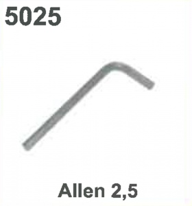 KEY/WRENCH: (ALLEN 2.5) #5025