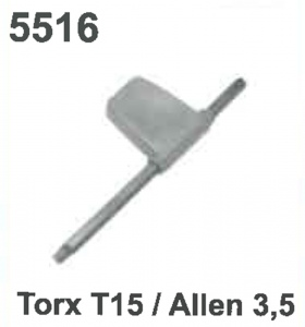 (T15 TORX) /KEY: 5516/ ALLEN 3.5)