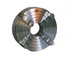 LATHE CHUCK: BISON 4 JAW 200MM D1-4