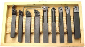 LATHE TOOL SET: 9PC 20.0MM SHANK BLACK (Special)