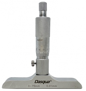 DEPTH MICROMETER: DASQUA 0-75MM