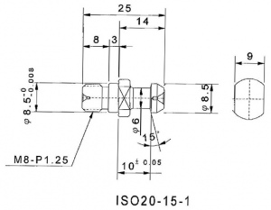 PULL STUD: ISO-20 -15-1