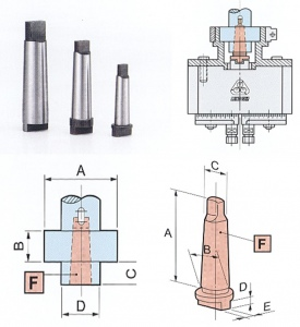 LONG GER: MORSE TAPER MOUNT FOR MULTI SPINDLE HEAD