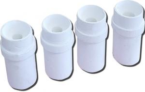 SANDBLASTING NOZZLES: 4PC 4,5,6,7MM WHITE