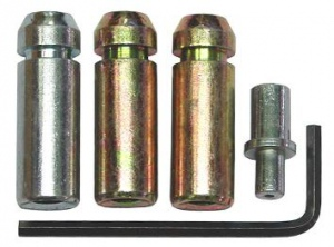 SANDBLASTER NOZZEL SET: 5PC STEEL