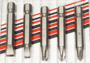 SCREWDRIVER BIT: 5PC SET C/VAN