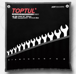 COMBINATION SPANNER SET: TOPTUL 12PC MET