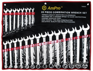 COMBINATION SPANNER SET: AMPRO 10-32