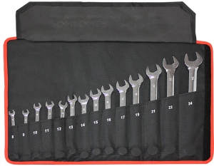 COMBINATION SPANNER SET: 14PC 8-24MM MAXPOWER CR-V