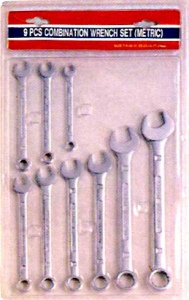 COMB SPANNER: 9PC C/V METRIC
