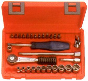 SOCKET SET: KING TONY 39PC X 1/4