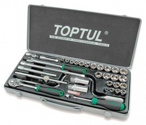 SOCKET SET: TOPTUL 34PC X 3/8