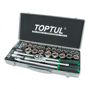 SOCKET SET: TOPTUL 43PC X 1/2