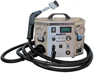 STAINLESS WELD CLEANER: DC-15 ELECTROPOLISHER