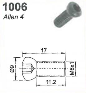SCREW; 1006L M6 X 1 L/H